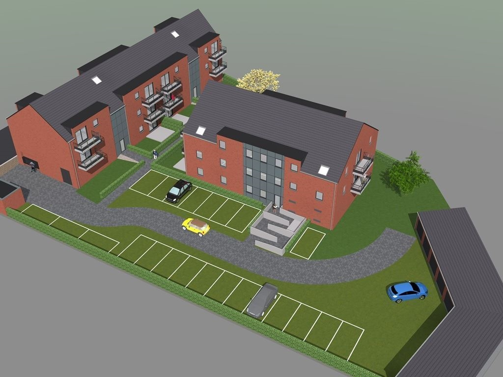 ELLEZELLES - 18 appartementen met terras en parking